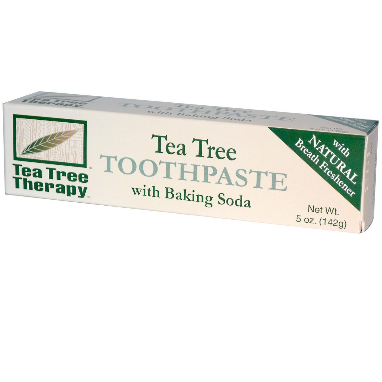 Зубная паста с экстрактом чайного дерева и пищевой содой, Tea Tree Therapy, 142грамм