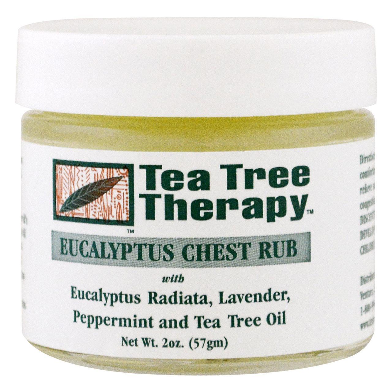 Эвкалиптовая мазь - растирка для груди, Tea Tree Therapy, 57 грамм