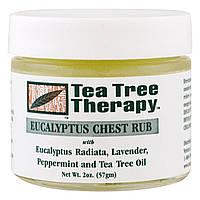 Эвкалиптовая мазь - растирка для груди, Tea Tree Therapy, 57 грамм, фото 1
