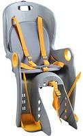 Детское велосипедное кресло Велокресло Серо желтое