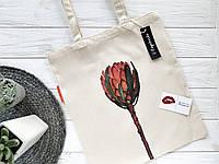 """Эко сумка с авторским принтом. Эко сумка """"Протея"""". Сумка шоппер. Сумка на подарок. Сумка для покупок."""
