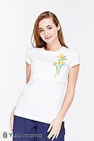 Облегающая футболка для беременных кормящих мам ROMANA NR-29.081, молочная, фото 1