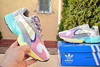 Женские кроссовки в стиле Adidas Yung 1 белые с розовым, фото 1