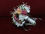 Свадебный букет-дублер из пионов персиковый с розовым, фото 2