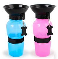 Портативная поилка PET BOTTLE прогулочная бутылка с чашей для собак, фото 1