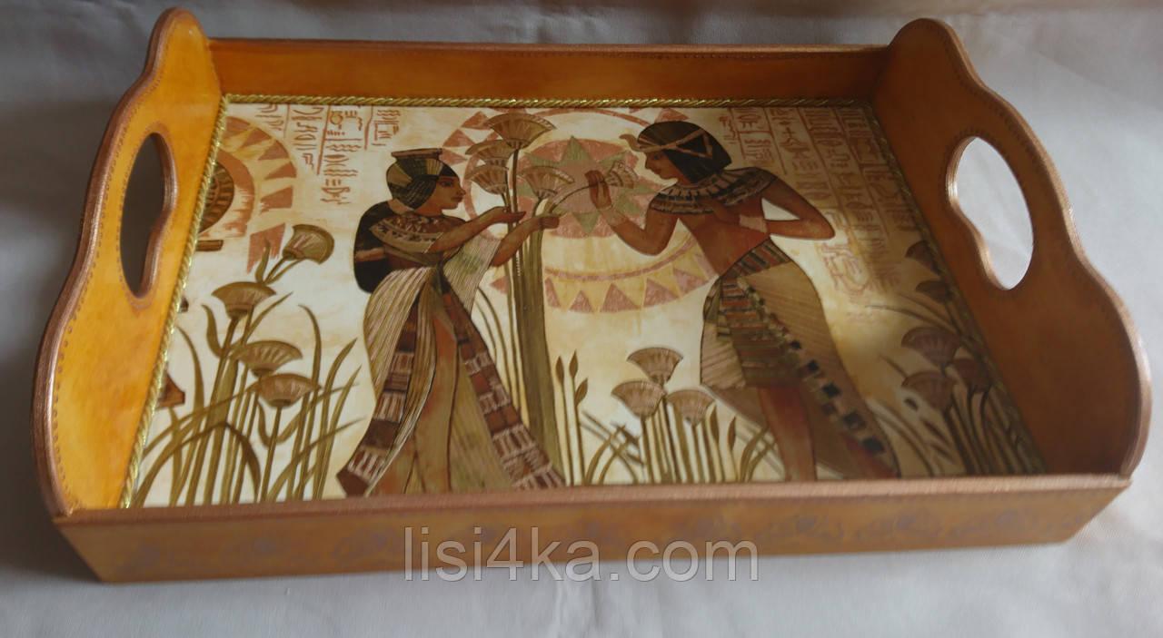 Деревянный поднос малый «Египет»