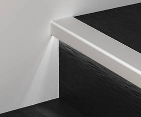 Профиль алюминиевый лестничный с LED подсветкой 2700 мм анодированный Prolight Prostep G/8/SF