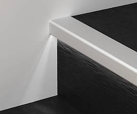 Профіль алюмінієвий сходовий з LED підсвічуванням Profilpas 25х40х2700 мм G/8/SF