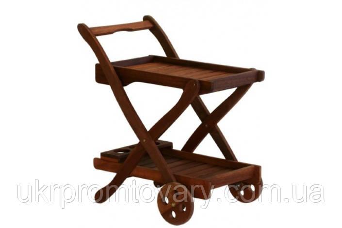 Сервировочный стол VIKTORIA коричневый07092 Evelek -- Наличие в Киеве купить Скидки Наличные, с НДС