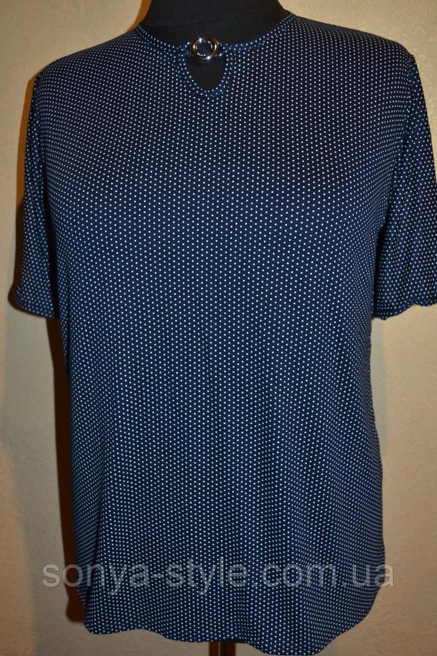 """Женская блузка """" мелкий горошек  """" больших размеров"""