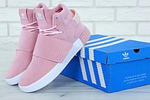 Кроссовки женские Adidas Tubular Invider Strap (розовые) Top replic, фото 3