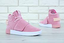 Кроссовки женские Adidas Tubular Invider Strap (розовые) Top replic, фото 2