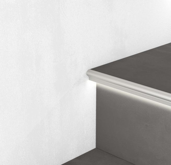 Профиль алюминиевый лестничный с LED подсветкой Profilpas 11х2700 мм SGA/11L