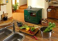 Отопительно варочная печь камин на дровах ( Шпор ) KVS Moravia 9103 Зеленая., фото 1