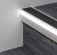 Профиль алюминиевый лестничный с LED подсветкой Profilpas 52х62х2700 мм Prolight Protect 126/L/F