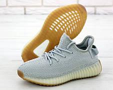 Кроссовки мужские Adidas Yeezy Boost SPLY-350 (серые) Top replic, фото 2