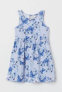 Летнее платье синее в бабочки H&M р.92см