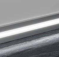 Плинтус алюминиевый с LED вставкой 2000 мм анодированный Prolight Metal Line 89