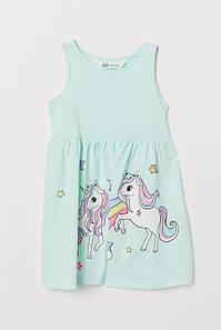 Летнее платье голубое My little Pony H&M р.92, 134/140