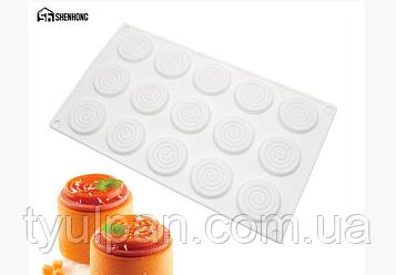 Форма для евродесертов Спираль мини для пироженого