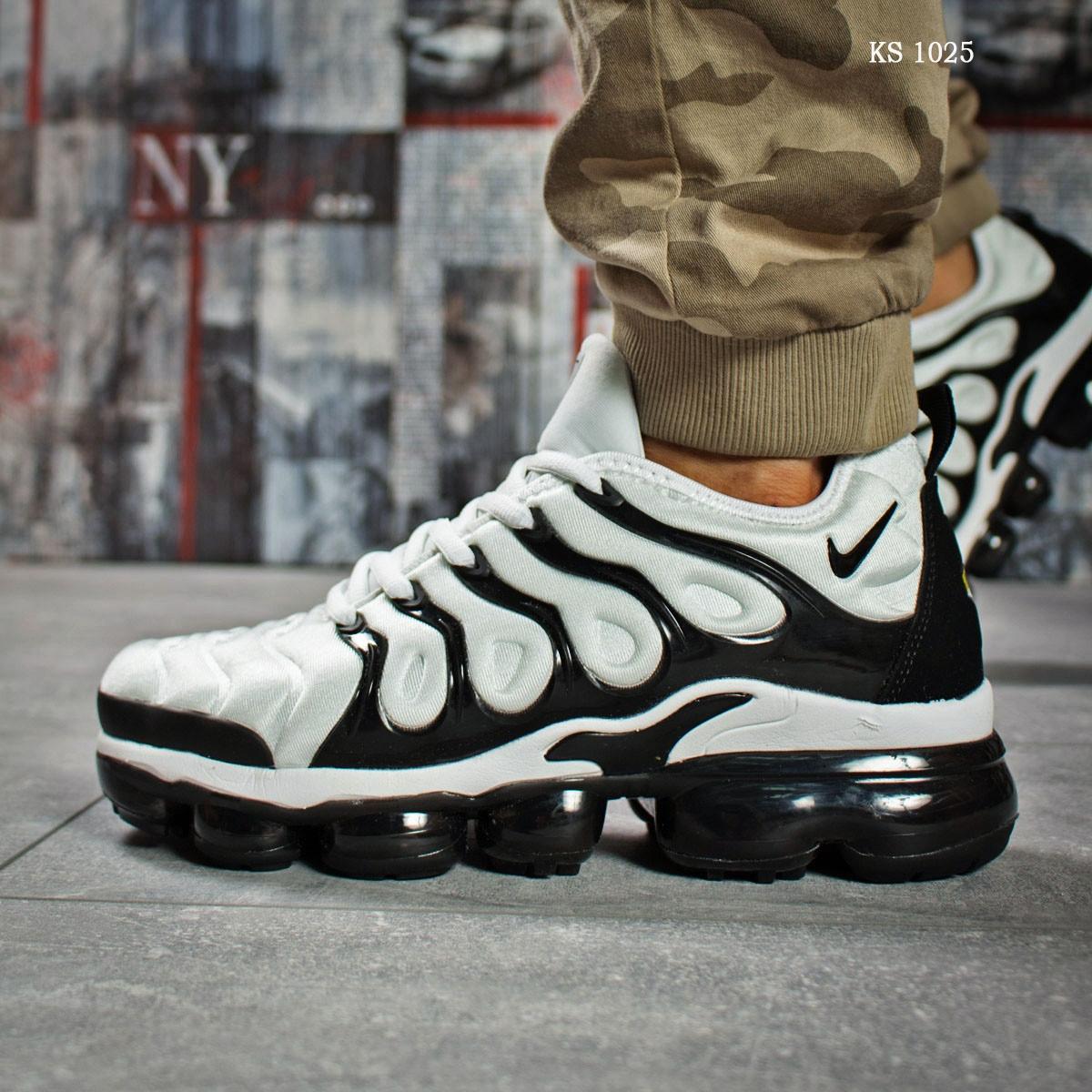 3b8f5608 Мужские кроссовки Nike TN Air, текстиль, белые с черным -  Vstrechayut_po_obuvke в Харькове
