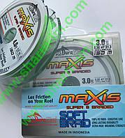 Плетений шнур DuraKing Maxis X8 Braid 150 м #4,0 (0.32 мм/25 кг) Fluo Green