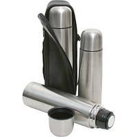 Термос металлический UNIQUE UN-1004, 1 л с чехлом