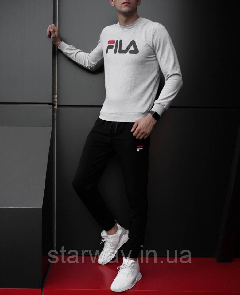 Спортивный стильный костюм Fila | фила топ лого