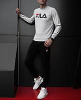 Спортивный стильный костюм Fila | фила топ лого , фото 1