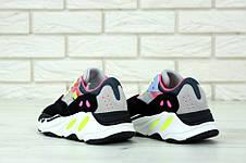 Кроссовки мужские Adidas Custom KAW x Yeezy 700 (серые-розовые) Top replic, фото 2