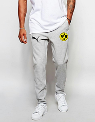 Мужские футбольные штаны Боруссия, Borussia, серые