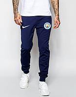 Мужские футбольные штаны Манчестер Сити, Manchester city, синие