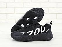 Кроссовки мужские Adidas Yeezy Boost 700 Wave Runner (чёрный) Top replic, фото 2