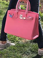 Роскошная женская сумка Гермес Биркин 35 см розе (реплика)