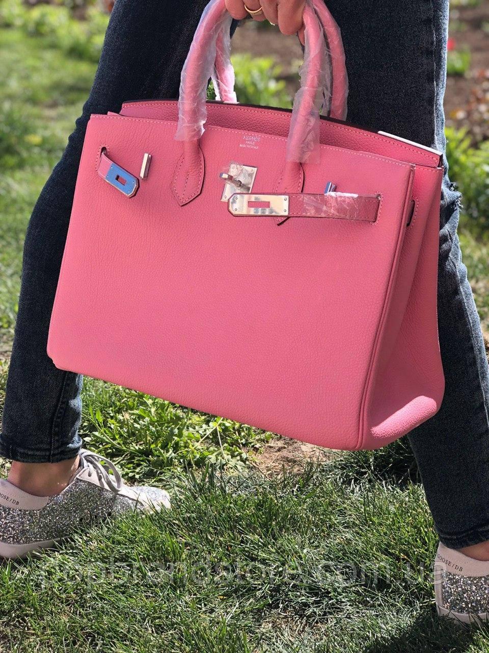 a5e37da73024 Роскошная женская сумка Гермес Биркин 35 см розе (реплика): продажа ...