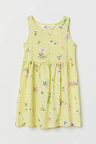 Летнее платье желтое в цветочки H&M р.92, 122/128см