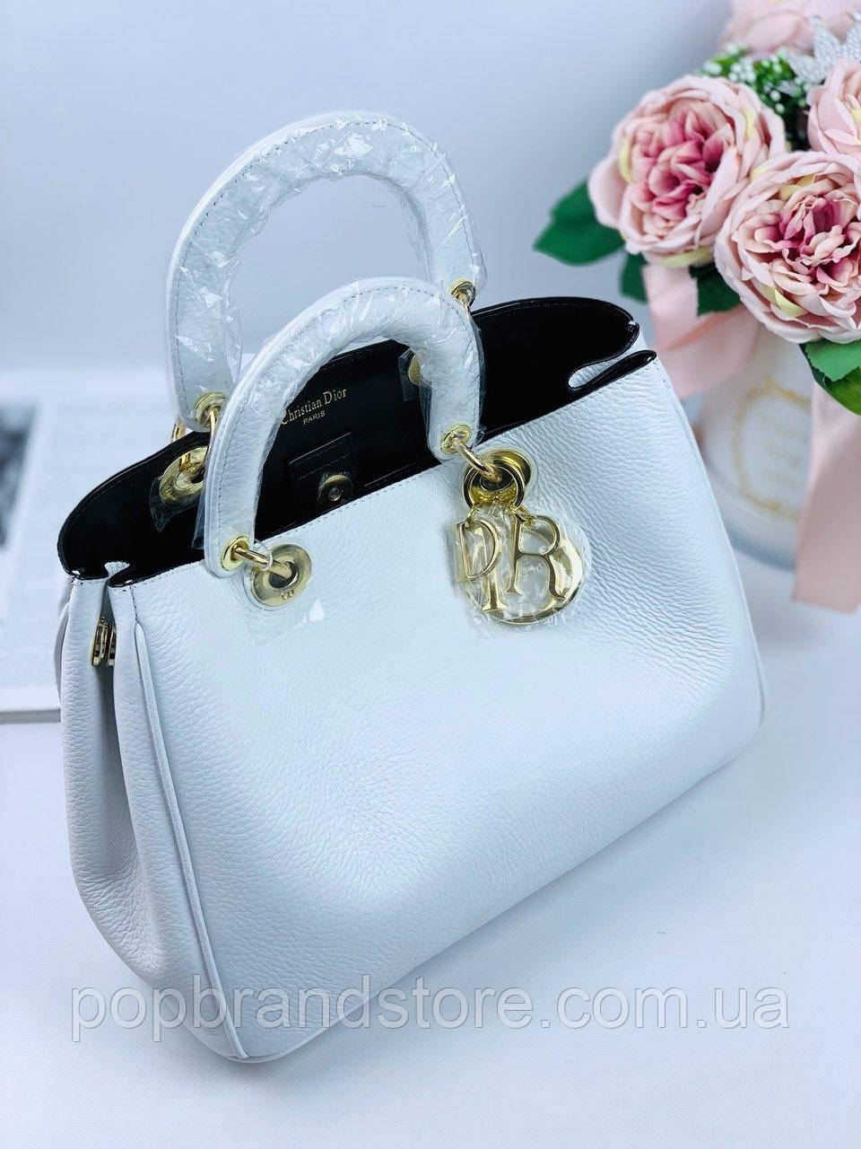 f5fe89870d16 Женская кожаная сумка DIOR Diorissimo lux (реплика) - Pop Brand Store |  брендовые сумки