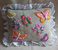 """Интерьерная подушка """"Бабочки"""", фото 1"""
