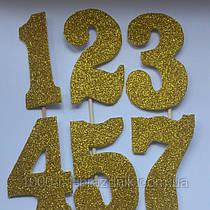 Топпер цифра золото