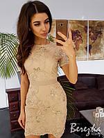 Кружевное платье футляр , фото 1