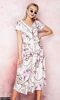 Платья с цветочным узором ,платья мини и миди,платья миди,белое летнее женское платье,платье белое летнее