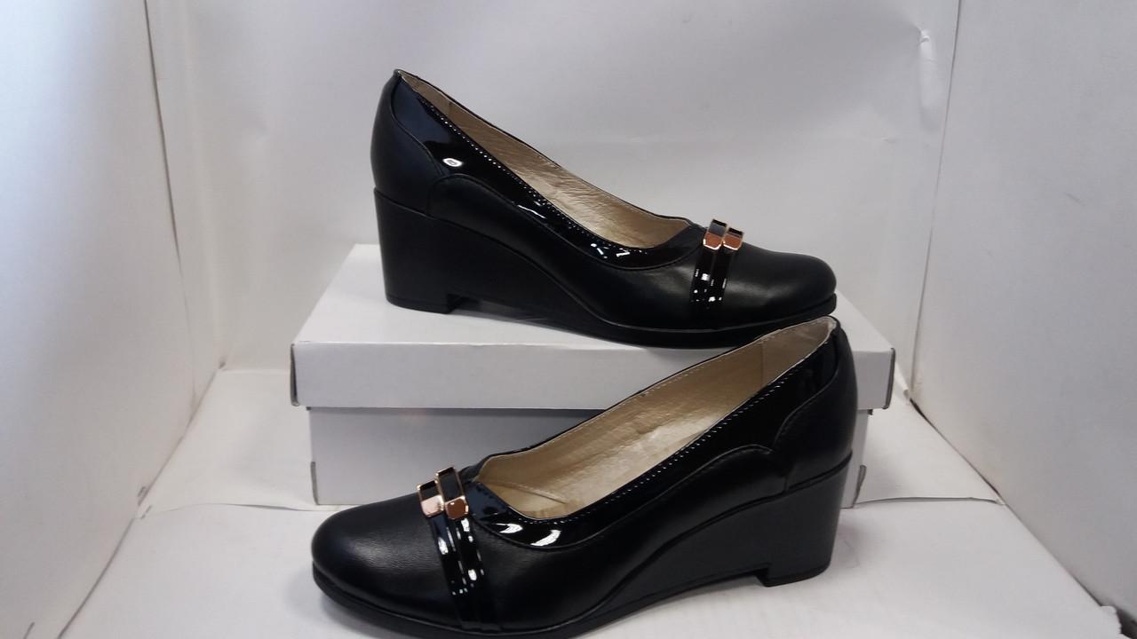 31405efa4 Женские кожаные туфли на танкетке. Недорого! - Комфортная обувь в Волынской  области