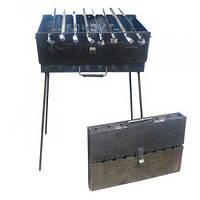 Раскладной мангал чемодан на 8 шампуров