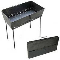Раскладной мангал чемодан на 10 шампуров