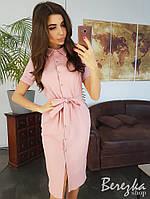 Платье рубашка приталенное с поясом, фото 1