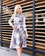 Женское платье ниже колен люкс качества.
