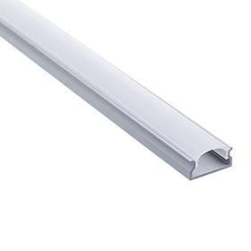 LED профиль алюминиевый накладной Braz Line анод серебро