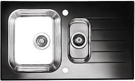 Кухонная мойка Alveus Glassix 20 (стекло черное) (с доставкой)