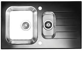 Кухонная мойка Alveus Glassix 20 (стекло черное) (с доставкой), фото 3