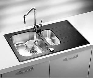 Кухонная мойка Alveus Glassix 20 (стекло черное) (с доставкой), фото 2
